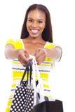 Afrykański kobiety ofiary zakupy fotografia stock