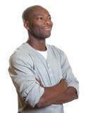 Afrykański mężczyzna patrzeje dobro obraz stock