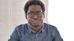 Afrykański mężczyzna Zaprzecza Trząść głowę, Nie zbiory wideo