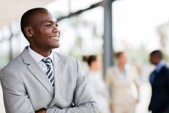 Afrykański męski korporacyjny pracownik Obrazy Royalty Free