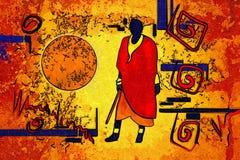 Afrykański pędny etniczny retro rocznik Obrazy Stock