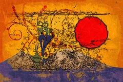 Afrykański pędny etniczny retro rocznik Zdjęcie Stock