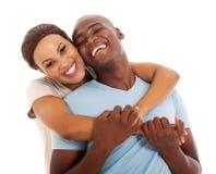 Afrykański pary zakończenie up Zdjęcie Stock