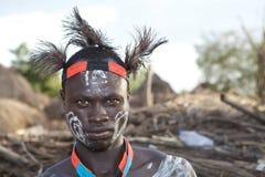 Afrykański plemienny mężczyzna Zdjęcia Stock