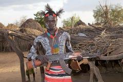 Afrykański plemienny mężczyzna Zdjęcie Stock