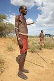 Afrykański plemienny mężczyzna Obrazy Royalty Free