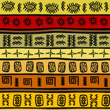 Afrykański pociągany ręcznie etniczny wzór, plemienny backgrou ilustracji