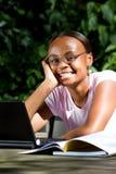 afrykański szczęśliwy uczeń fotografia stock