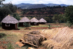 afrykański wioski Fotografia Royalty Free