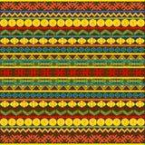 afrykańskich etnicznych motywów stubarwny wzór Zdjęcia Royalty Free