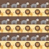 Afrykańskich zwierząt Bezszwowy wzór Fotografia Royalty Free