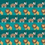 Afrykańskich zwierząt Bezszwowy wzór Zdjęcia Stock