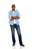 Afrykańskie mężczyzna ręki krzyżować fotografia royalty free