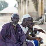 Afrykańskie wiosek starsze osoby Fotografia Royalty Free
