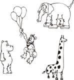 afrykańskie zwierzęce kreskówki Obrazy Stock