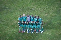 afrykańskiego bafana krajowa piłki nożnej południe drużyna Obrazy Stock