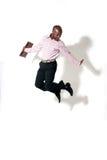 afrykańskiego biznesmena szczęśliwy ja target502_0_ Zdjęcie Royalty Free