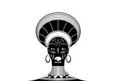 Afrykańskiego plemienia Odzieżowy Żeński zulu, portret śliczni południe - afrykańska kobieta Typowa odzież dla zamężnych kobiet,  royalty ilustracja