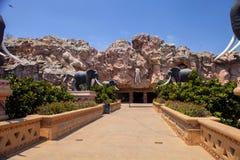 Afrykańskiego słonia głowy ulga, słońca miasto, Południowa Afryka Obrazy Royalty Free