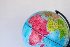 Afryka, Środkowy Wschód i India mapa na kuli ziemskiej z białym tłem, Fotografia Royalty Free