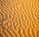 Afryka brown piasek diuna w Sahara Morocco pustyni linii Zdjęcia Stock
