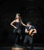 Afryka celt---Irlandzkiego Krajowego tana kranowy taniec Obraz Royalty Free