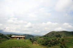 Afryka dom na wzgórzu Kisoro, Uganda - Obrazy Royalty Free