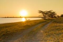 Afryka drogi zmierzch Fotografia Stock