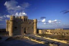 AFRYKA EGIPT ALEKSANDRIA miasta fort QAITBEY Zdjęcie Royalty Free