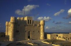 AFRYKA EGIPT ALEKSANDRIA miasta fort QAITBEY Obrazy Stock