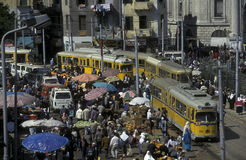 AFRYKA EGIPT ALEKSANDRIA miasto Zdjęcia Royalty Free