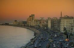 AFRYKA EGIPT ALEKSANDRIA miasto Fotografia Royalty Free