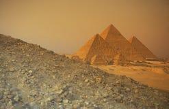 AFRYKA EGIPT KAIR GIZA ostrosłupy Zdjęcie Royalty Free