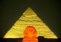 AFRYKA EGIPT KAIR GIZA PIRAMIDS Obraz Royalty Free