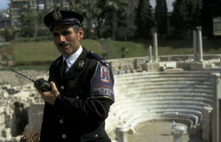 AFRYKA EGIPT KAIR miasta turysty policja Zdjęcia Stock