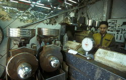 AFRYKA EGIPT KAIR miasteczka STARY rynek Zdjęcie Stock