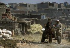 AFRYKA EGIPT KAIR pracownika garncarstwa ludzie Fotografia Stock