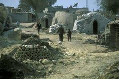 AFRYKA EGIPT KAIR pracownika garncarstwa ludzie Zdjęcie Stock