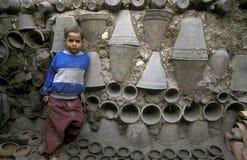 AFRYKA EGIPT KAIR pracownika garncarstwa ludzie Zdjęcia Royalty Free