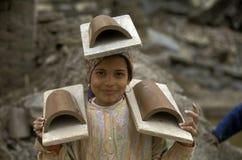 AFRYKA EGIPT KAIR pracownika garncarstwa ludzie Zdjęcie Royalty Free