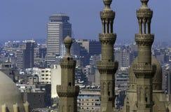 AFRYKA EGIPT KAIR sułtanu HASSAN STARY GRODZKI meczet Zdjęcia Royalty Free