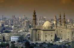 AFRYKA EGIPT KAIR sułtanu HASSAN STARY GRODZKI meczet Obraz Stock