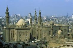AFRYKA EGIPT KAIR sułtanu HASSAN STARY GRODZKI meczet Zdjęcia Stock
