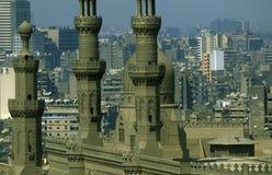 AFRYKA EGIPT KAIR sułtanu HASSAN STARY GRODZKI meczet Fotografia Royalty Free