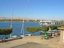 Afryka, Egipt, Luxor, Nil, wycieczkowy liniowiec Fotografia Royalty Free