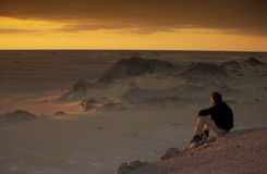 AFRYKA EGIPT SAHARA FARAFRA bielu pustynia Obraz Stock