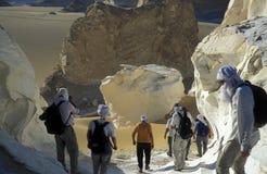 AFRYKA EGIPT SAHARA FARAFRA bielu pustynia Zdjęcie Royalty Free