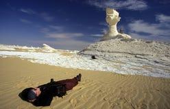 AFRYKA EGIPT SAHARA FARAFRA bielu pustynia Fotografia Royalty Free