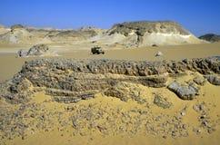 AFRYKA EGIPT SAHARA FARAFRA bielu pustynia Zdjęcia Royalty Free