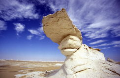 AFRYKA EGIPT SAHARA FARAFRA bielu pustynia Obrazy Stock
